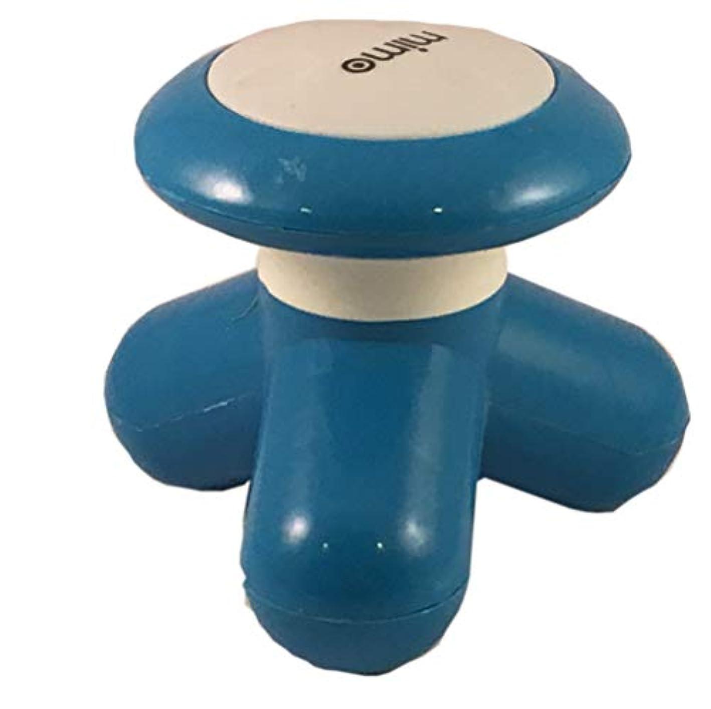 空白信頼性アトミックE4G Crossroads ハンディマッサージャー HRK ブルー 肩 首 腰 マッサージ リラックス【小型 電動マッサージ器 かわいい デザイン インテリア 1年間保証】(ブルー)