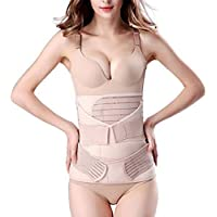 HOMWE 3 in 1 Postpartum Support Recovery Belly Wrap Waist/Pelvis Belt Body Shaper Postnatal Shapewear