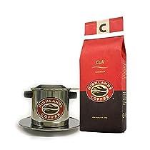 HIGHLANDS COFFEE ハイランズコーヒー ベトナムコーヒー ドリップセット 【越南的美味珈琲】(クリロブスタ+フィルターセット)