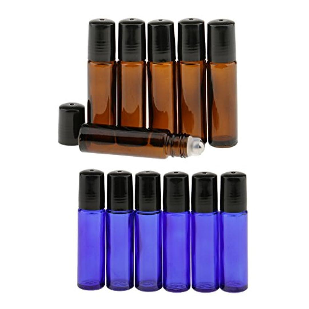 パット検出料理をする12個入り 10ml 空 ミニ ガラスロール ボトル 化粧品 パフューム 詰め替え エッセンシャル 瓶