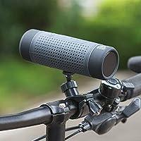 ポータブル屋外乗馬ブルートゥーススピーカー自転車ブルートゥースオーディオ懐中電灯FMラジオTFカードスピーカーサブウーファー15.6センチ* 5.2センチ Gray