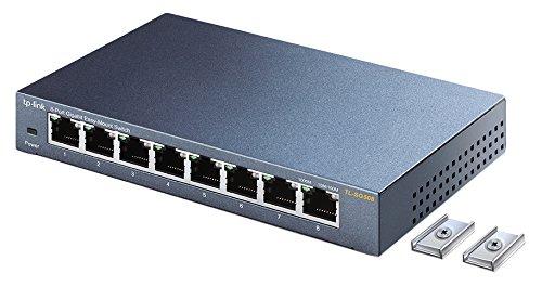 TP-Link TL-SG508 8ポートギガビットらくらくマウントスイッチングハブ 8ポート
