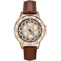 Women's Dress Watch Wrist Watch Japanese Quartz Genuine Leather Black/White/Red 30 m Water Resistant/Waterproof New Design Casual Watch Analog Ladies Casual Fashion - Brown Red Pink