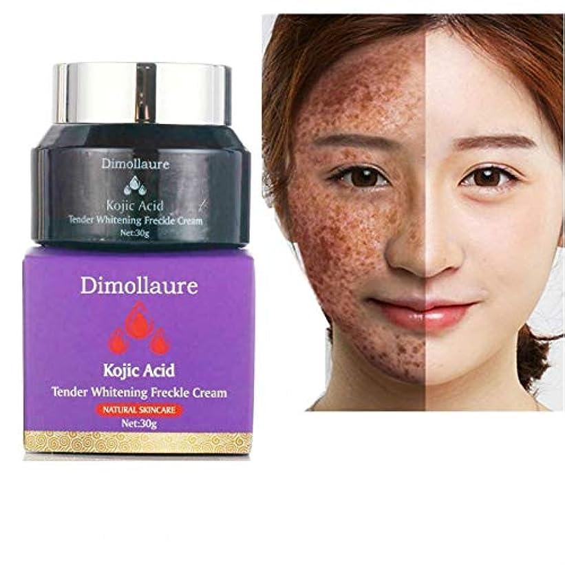 収縮立派な欠陥Dimollaureコウジ寧フェードクリーム色素メラニン除去シミそばかす肝斑ダークスポットは、クリームを顔