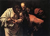 ¥5K-200k 手書き-キャンバスの油絵 - 美術大学の先生直筆 - 8 名画 - Incredulity of Saint Thomas Caravaggio apostles - 絵画 洋画 手描複製画 -04
