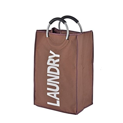 ランドリー バスケット 折り畳み式 ランドリーバッグ 洗濯バッグ 耐久性 収納袋 合金ハンドル付き