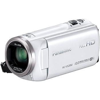 Panasonic デジタルハイビジョンビデオカメラ V520 内蔵メモリー32GB ホワイト HC-V520M-W