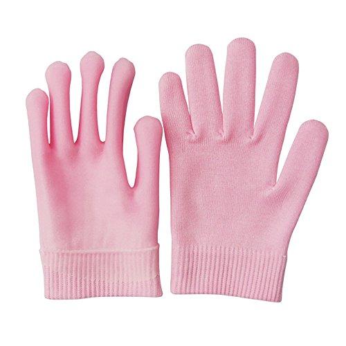 Pinkiou ジェルグローブジェル手袋は肌を保湿し、角質取れる。肌を美しくしたい人 自宅エステでしっとり素肌ケア 就寝時につけるだけしっとりつるつる/一年に使える手袋/手荒れ対策/肌に優しい(ピンク...