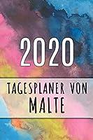 2020 Tagesplaner von Malte: Personalisierter Kalender fuer 2020 mit deinem Vornamen