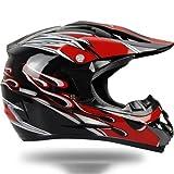 バイクヘルメット オフロード バイク用品 軽量ヘルメット ゴーグル付きAH-255 PSC付き XL
