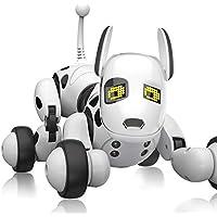 ロボット犬 スマートラジコンロボット 子供のおもちゃ 非常にインテリジェントな 歌うことができる 踊ることができる 遠隔操作 (ホワイト) [並行輸入品]