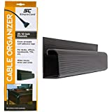 Home J Channel Desk Cable Organizer by SimpleCord, Black