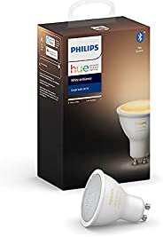 Philips Hue Dimmable LED Smart Spot Light White Ambience GU10 (Compatible with Amazon Alexa, Apple HomeKit, an