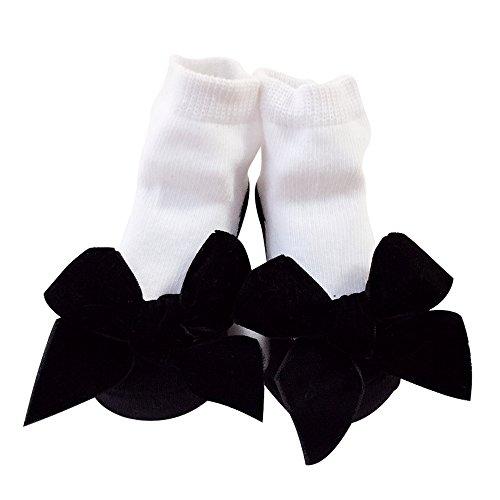 Sanlutoz ベビーソックス 新生児用靴下 女の子 赤ちゃん くつした お祝い 出産 祝い 可愛い プレゼント (12-24 M 対応足裏の長さ 11-13cm(薦め年齢:12-18ヶ月), 黑绒)