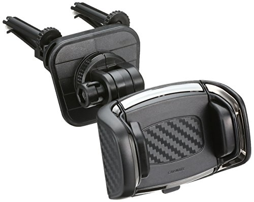 カーメイト 車載ホルダー スマホホルダー クイック エアコン取付 カーボン調 ブラックメッキ SA17