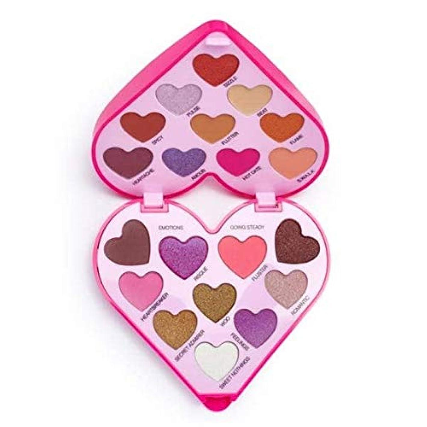 終点ネコ一杯[I Heart Revolution ] 私は心の革命のハートビートアイシャドウパレット - I Heart Revolution Heartbeat Eye Shadow Palette [並行輸入品]