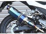 BEET JAPAN Ninja250 NASSERT Evolution スリップオンマフラー ブルーチタン (0278-KB9-BL)
