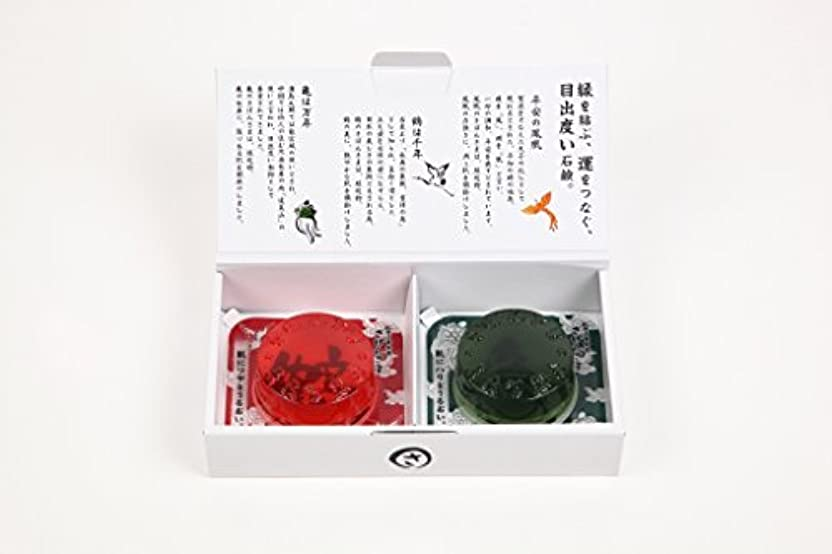 ショッキング庭園シマウマ成田山表参道 さぼんさま〈ギフト2点セット〉鶴?亀
