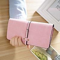 女性の財布女性の長いカードバッグスクラブレディーススタイルのドローマネークリップファッションヴィンテージ学生財布 ピンク