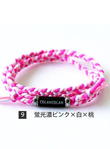 コランコラン colancolan VARIOUS Plus ヴァリアス プラス 磁気健康アクセサリー (09.蛍光濃ピンク×白×桃)