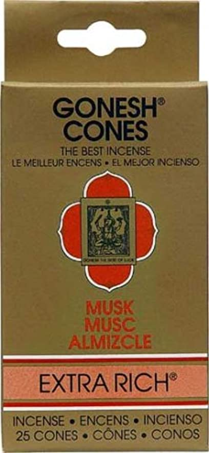 スカーフ歩き回る本円錐incense-goneshムスク