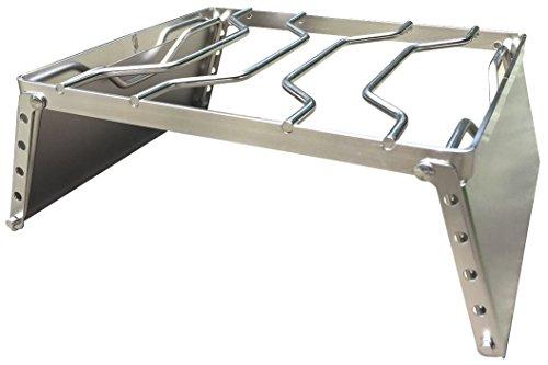ZAFIELD 風防板付き クッカースタンド 五徳 高さ6段調整機能付