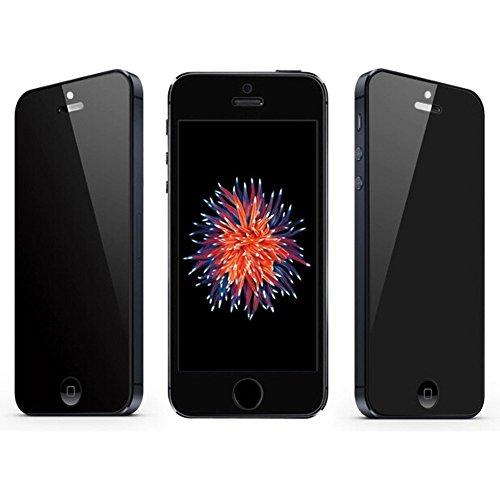 SUPTMAX iPhone SE 保護フィルムiPhone5s ガラスフィルム 0.26mm 2.5D 9H 強化ガラス 耐衝撃 高透過率 iPhone 5 保護 フィルム( 覗き見防止)