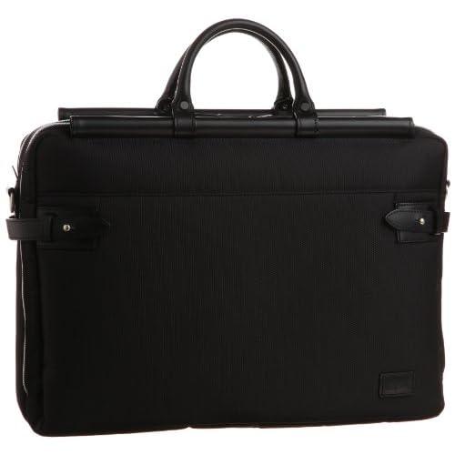 【木和田】天棒ビジネスバッグ横型W 2WAY本革付属 鞄の聖地兵庫県豊岡市製 5984 01 (ブラック)