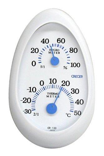 クレセル クレセル 家庭用温度計・湿度計 CR-133W ホワイト