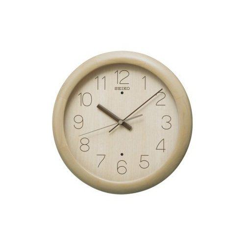 セイコー[SEIKO] 掛け時計 メンズ レディース インテリア 電波 掛時計 KX201A 寝具 収納 薄茶木地塗装