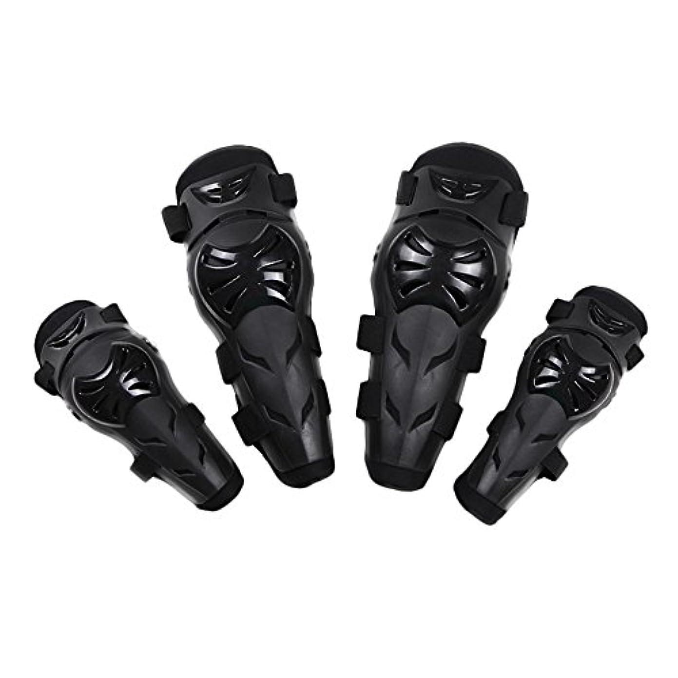 チャンス意識的ホバー膝パッドサポート、 オートバイモトクロスサイクリング肘と膝プロテクター保護手袋サイクリングスケート - 4セット 登山をするスポーツのために (色 : 緑)