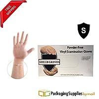 使い捨てビニール手袋、医療試験、パウダーフリーラテックスフリー、アレルギーフリー、5Mil, 100手袋perボックス–7ボックスサイズS