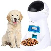 自動ペットフィーダー、犬猫音声ディスペンサーで思い出させるタイマーIR検出小さな中大型ビッグサイズペット猫犬