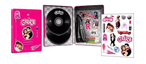 【Amazon.co.jp限定】 グリース(HDリマスター版)&グリース2(ブルーレイ) 製作40周年記念 スチールブック仕様 (2枚組) [Blu-ray]