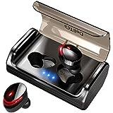 【2019最新版 Bluetooth5.0+120時間連続駆動】 Bluetooth イヤホン Hi-Fi高音質 EDRが搭載 IPX7完全防水 自動ペアリング 3Dステレオサウンド CVC8.0ノイズキャンセリング&AAC8.0対応 完全ワイヤレス イヤホン 両耳 左右分離型 自動ON/OFF Siri対応 音量調整 マイク内蔵 充電式収納ケース付き 技適認証済 ブルートゥース スポーツ イヤホン iPhone/Android対応 (T8進化型)