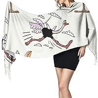 おかしいダチョウ女性の寒い天候のスカーフは、ファッションのスカーフを包みます