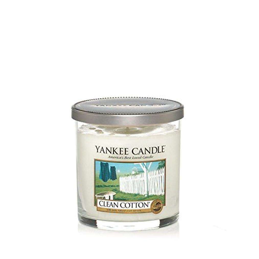 オペレーター悪魔しつけYankee Candles Small Pillar Candle - Clean Cotton (Pack of 6) - ヤンキーキャンドルの小さな柱キャンドル - きれいな綿 (x6) [並行輸入品]