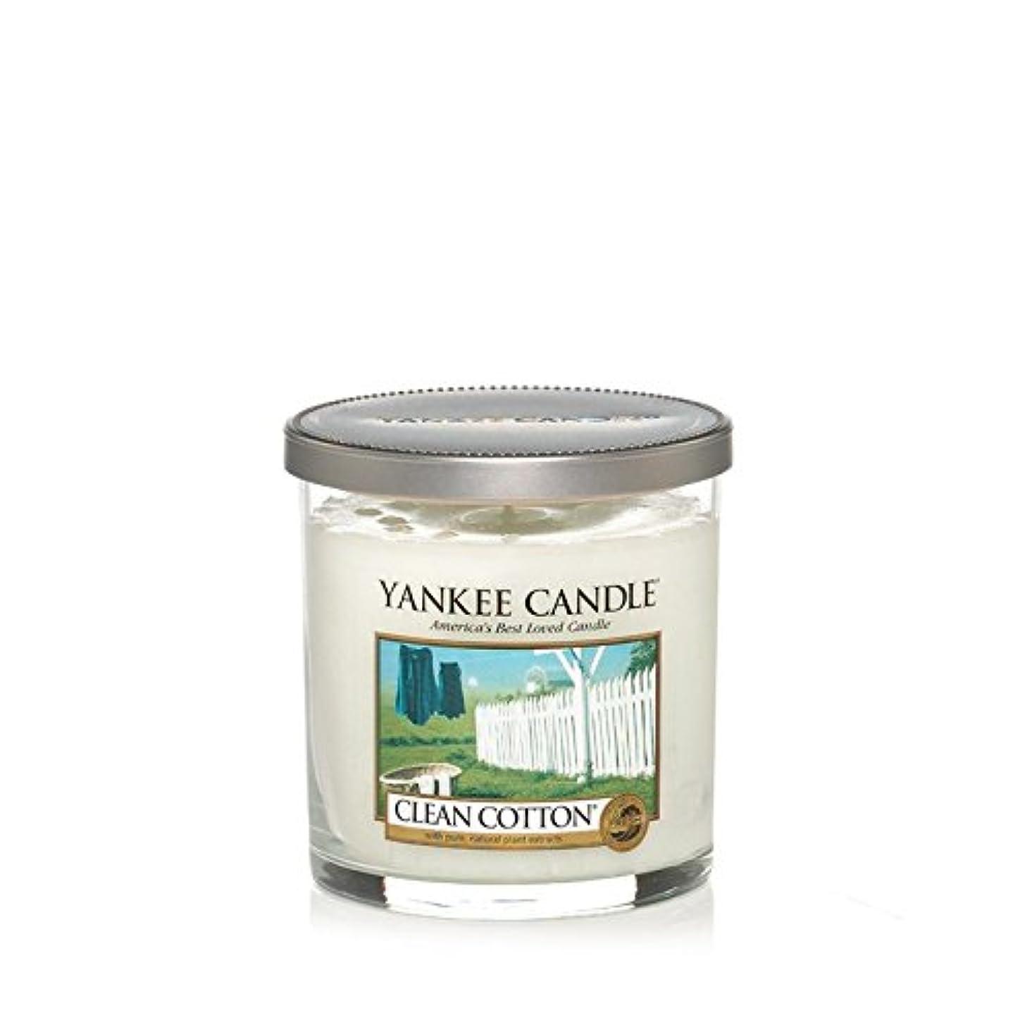 脱獄豊富なキュービックYankee Candles Small Pillar Candle - Clean Cotton (Pack of 2) - ヤンキーキャンドルの小さな柱キャンドル - きれいな綿 (x2) [並行輸入品]