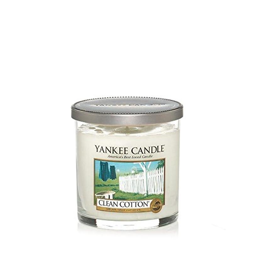 行動季節広告主Yankee Candles Small Pillar Candle - Clean Cotton (Pack of 2) - ヤンキーキャンドルの小さな柱キャンドル - きれいな綿 (x2) [並行輸入品]