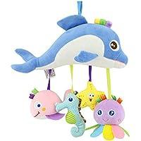 ancaixin Ocean Animals Plush Rattlesおもちゃfor赤ちゃん幼児ベビーカー装飾