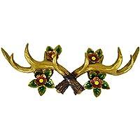 IPOTCH 樹脂 鹿の角 壁 フック ハンガー 壁 素晴らしい 装飾品 ウォールフック 全3種    - ゴールデン