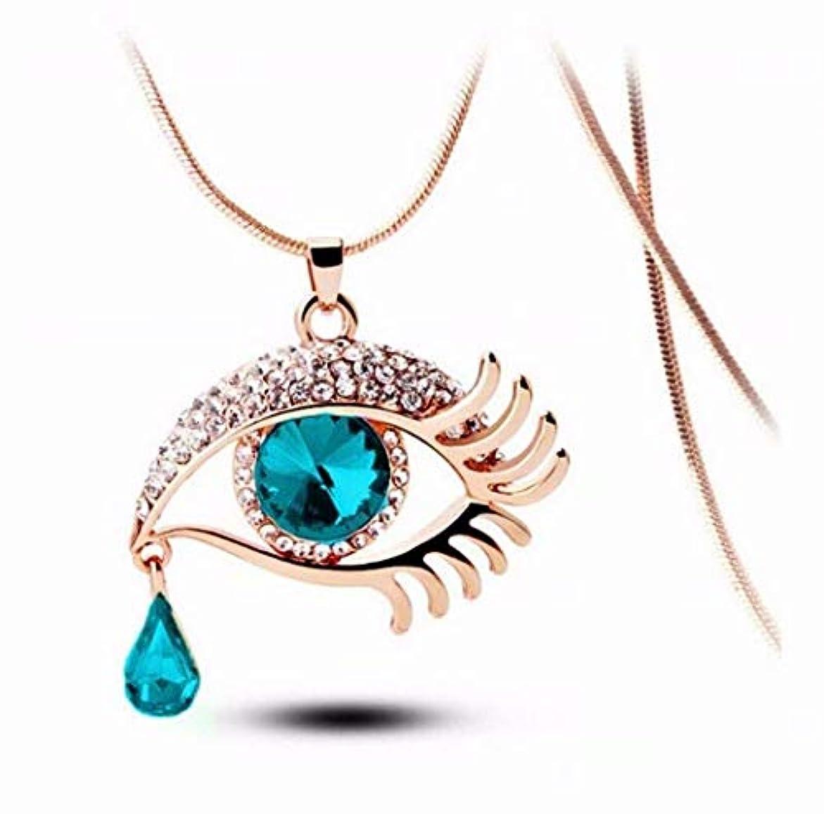 七里の香 ティアドロップネックレス アイクリスタルネックレス セーターチェーン 宝石
