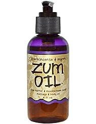【Zum Oil】マッサージオイル(フランキンセンス&ミルラの香り) 約118ml [並行輸入品]