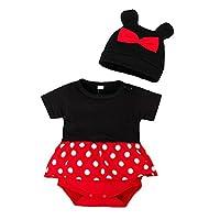 ベビー服 夏のベビーロンパース + 帽子 2 個の漫画の動物の男の子女子ジャンプスーツ幼児衣装新生児ボディセット素敵なベビーセット