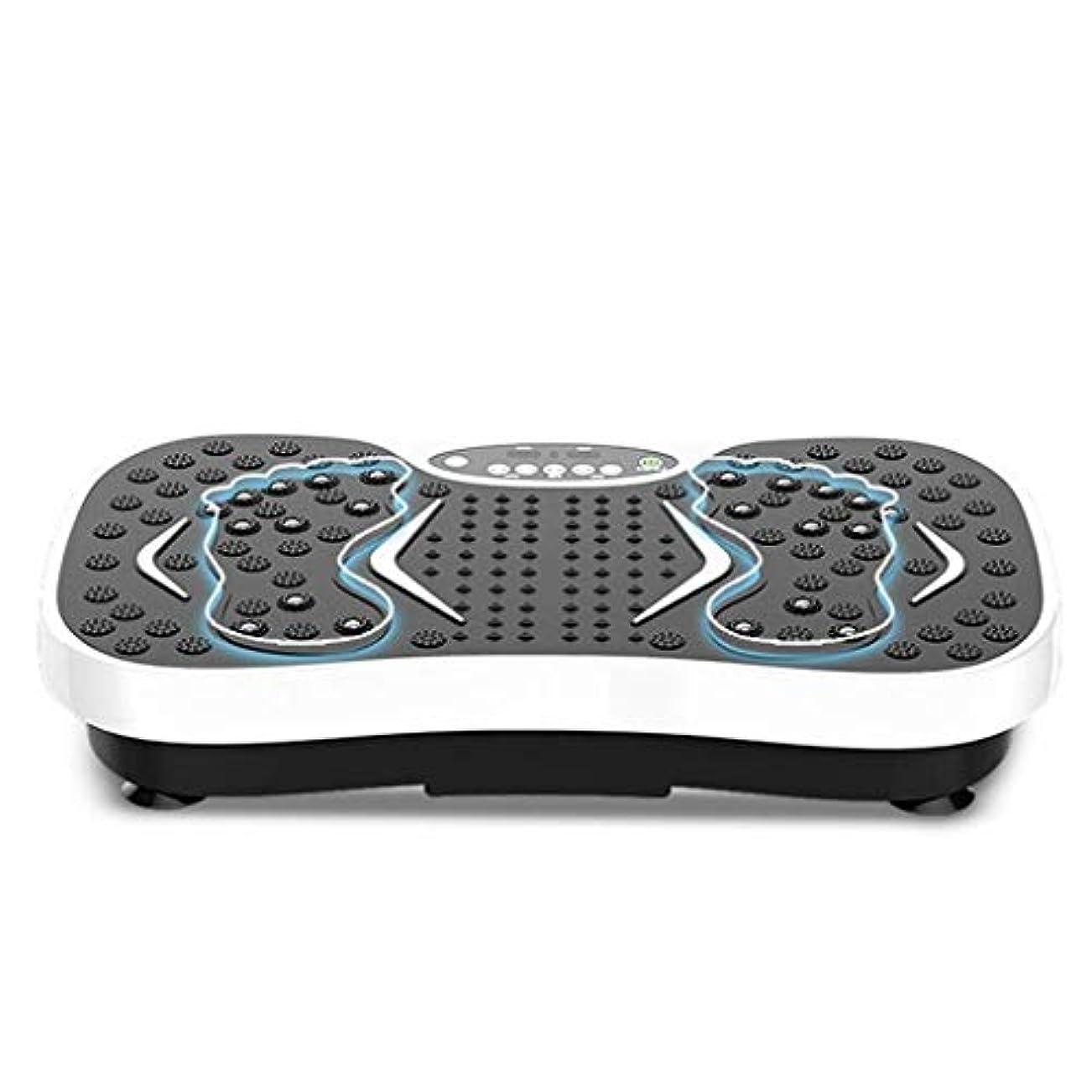 認知廃棄逸脱減量機、運動衝撃吸収フィットネスモデル減量機ユニセックス振動板、家庭/ジムに最適(最大負荷150KG) (Color : 白)