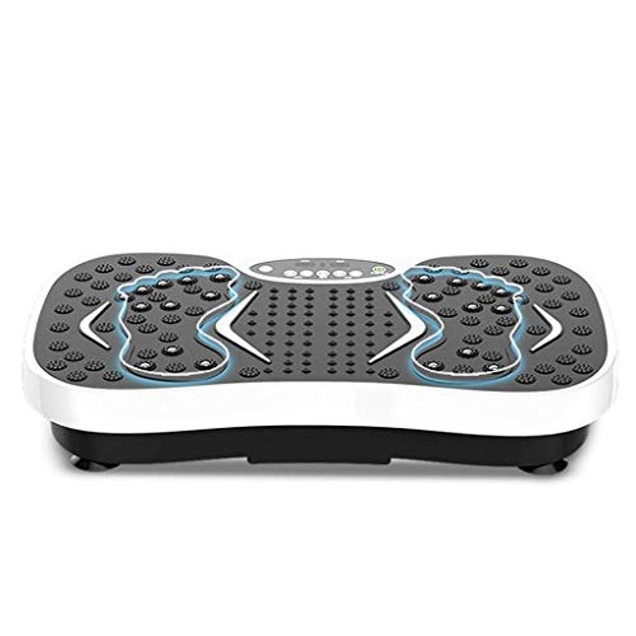 スチールポインタ聖人減量機、運動衝撃吸収フィットネスモデル減量機ユニセックス振動板、家庭/ジムに最適(最大負荷150KG) (Color : 白)