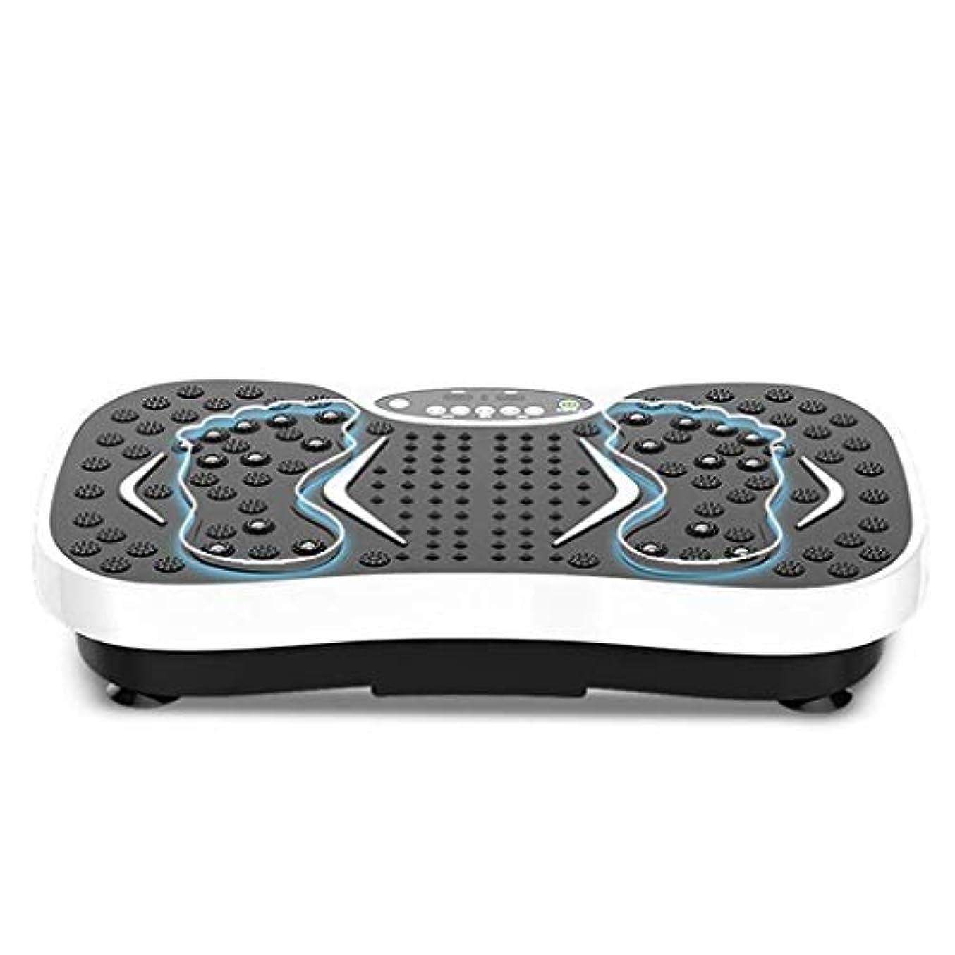 見かけ上塊心臓減量機、運動衝撃吸収フィットネスモデル減量機ユニセックス振動板、家庭/ジムに最適(最大負荷150KG) (Color : 白)