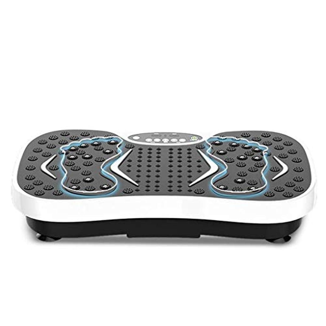うめきアフリカしっかり減量機、運動衝撃吸収フィットネスモデル減量機ユニセックス振動板、家庭/ジムに最適(最大負荷150KG) (Color : 白)