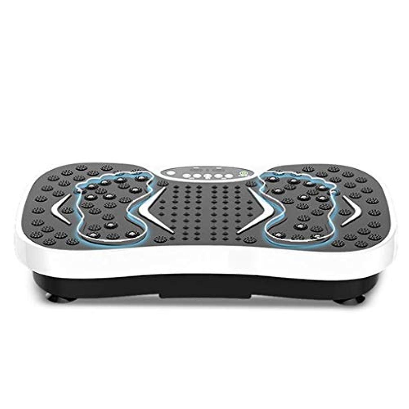 クラウド病気同志減量機、運動衝撃吸収フィットネスモデル減量機ユニセックス振動板、家庭/ジムに最適(最大負荷150KG) (Color : 白)