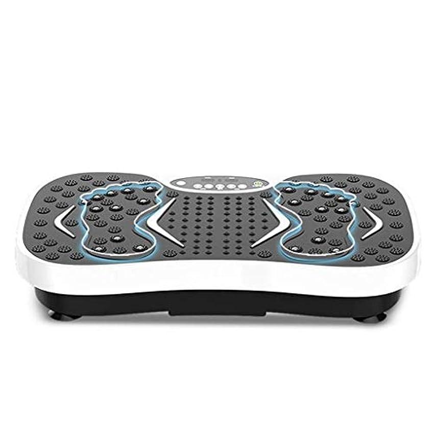 敬礼大西洋ルール減量機、運動衝撃吸収フィットネスモデル減量機ユニセックス振動板、家庭/ジムに最適(最大負荷150KG) (Color : 白)